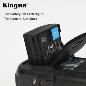 KingMa Dual Charger BM048 + 2 Baterai LP-E6 Canon EOS 6D 5D 60D 70D 80D - Black - 3