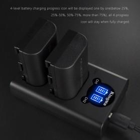 KingMa Dual Charger BM048 + 2 Baterai LP-E6 Canon EOS 6D 5D 60D 70D 80D - Black - 4