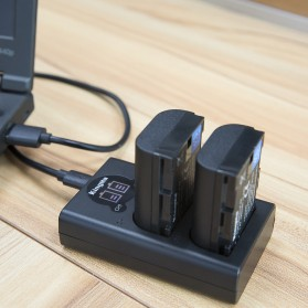 KingMa Dual Charger BM048 + 2 Baterai LP-E6 Canon EOS 6D 5D 60D 70D 80D - Black - 5