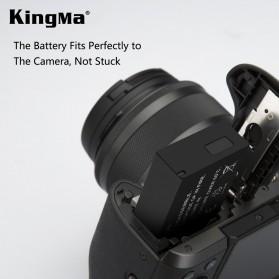 KingMa Dual Charger BM048 + 2 Baterai LP-E17 Canon EOS 77D M3 M5 M6 Rebel T6i T7i 750D - Black - 3
