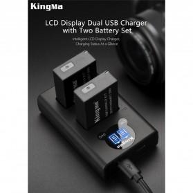 KingMa Dual Charger BM048 + 2 Baterai LP-E17 Canon EOS 77D M3 M5 M6 Rebel T6i T7i 750D - Black - 6