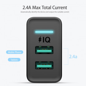 Floveme Charger USB Fast Charging 2 Port 2.4A - GC-08 - Black - 4