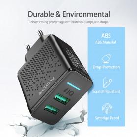 Floveme Charger USB Fast Charging 2 Port 2.4A - GC-08 - Black - 5