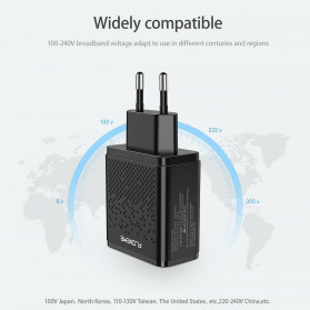 Floveme Charger USB Fast Charging 2 Port 2.4A - GC-08 - Black - 8