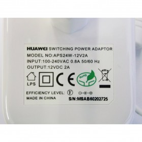 Huawei Power Adapter 12v 2A - APS24W (14 DAYS) - White - 2