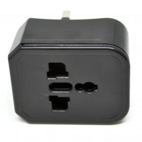 Universal Travel Adapter US, UK, EU and AU - Black - 5