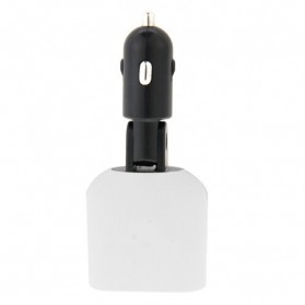 Taffware Smart Car Charger Dual USB with LCD - XBX018 - Black White - 5