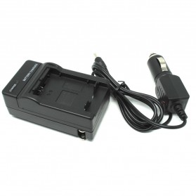 Camera Travel Charger for Sony DSLR with Car Charger - NP-FW50 - Black - 2