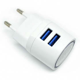 Vidvie Dual USB Charger 2.1A with Lightning Cable - VV-021 - White - 4