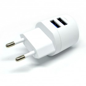 Vidvie Dual USB Charger 2.1A with Lightning Cable - VV-021 - White - 5