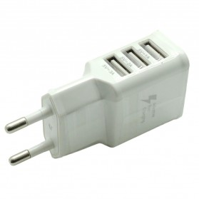 Mobile Phone USB Wall Charger EU Plug 3 Ports 2.0A - EP-TA20JWE - White
