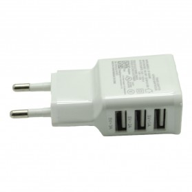 Mobile Phone USB Wall Charger EU Plug 3 Ports 2.0A - EP-TA20JWE - White - 2