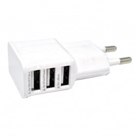 Mobile Phone USB Wall Charger EU Plug 3 Ports 2.0A - EP-TA20JWE - White - 4