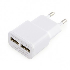 Samsung EU Plug 2 Ports Adapter Wall USB 2A Output Charger Mobile Phone - White