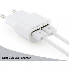 Samsung EU Plug 2 Ports Adapter Wall USB 2A Output Charger Mobile Phone - White - 2