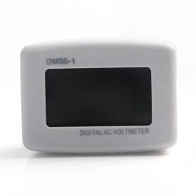 Voltmeter Digital AC EU Plug 110-300V / Alat Pengukur Listrik - DM55-1 - White - 2