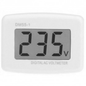 Voltmeter Digital AC EU Plug 110-300V / Alat Pengukur Listrik - DM55-1 - White - 3