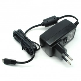 AC Adapter Micro USB Plug 5V 3.0A with EU/US/UK Plug - Black