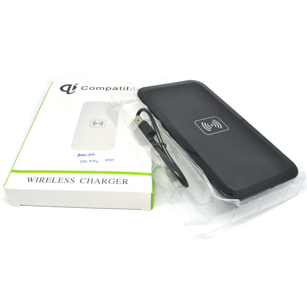 ... Qi Compatible Wireless Charging Pad - HB-19 - Black - 4 ...