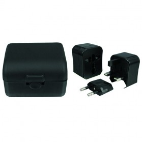 Stop Kontak Travel Universal Plug - WP200C - Black
