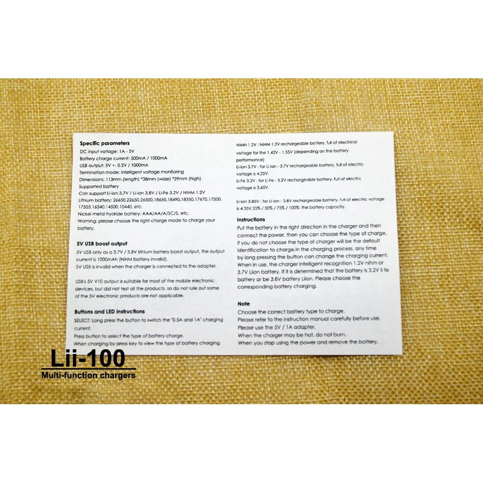 ... LiitoKala Charger Baterai Li-ion 1 Slot - Lii-100 - Black - 5 ...