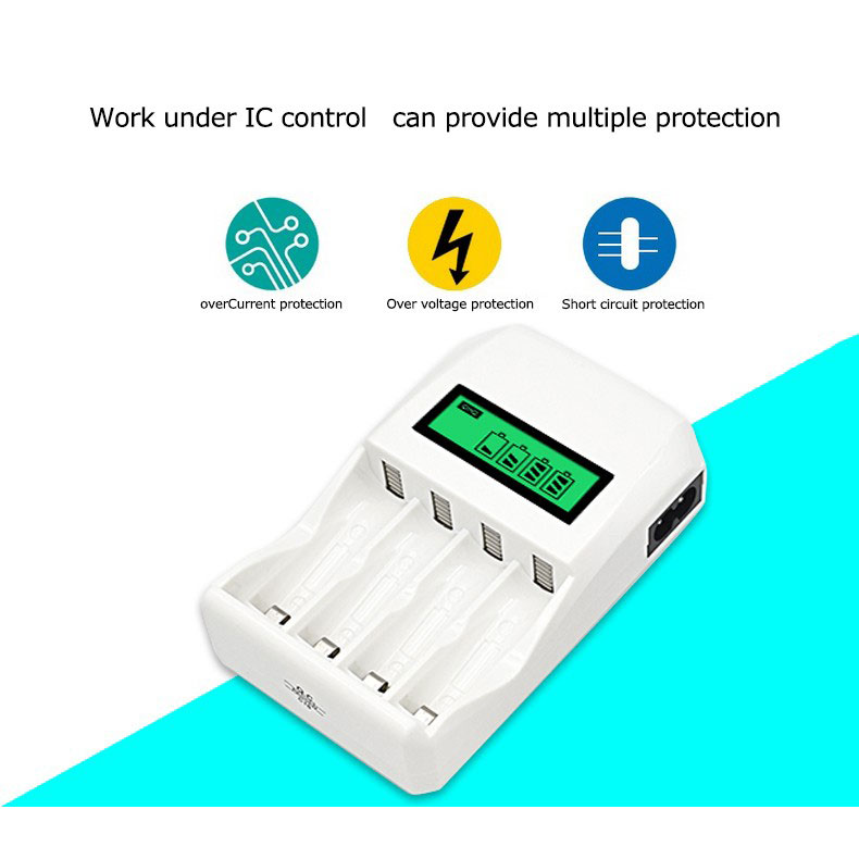 ... Super Quick Battery Charger 4 Slot for AA   AAA NiCd NiMH - C907W -  White ... 9c6b750439