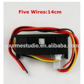 Alat Pengukur Listrik Voltmeter Ammeter Dual LED - Black - 3