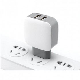 Olaf Dual Port USB Charger Travel - 170209 - White - 4