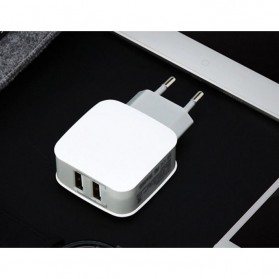 Olaf Dual Port USB Charger Travel - 170209 - White - 5