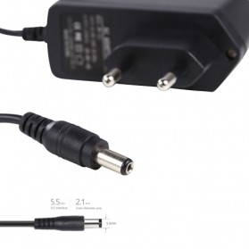 Adaptor Power 12V 1A EU Plug - WW-222 (14 DAYS) - Black - 3