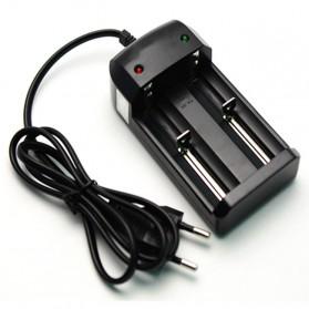 Charger Baterai 26650 2 Slot - HG-1206Li - Black