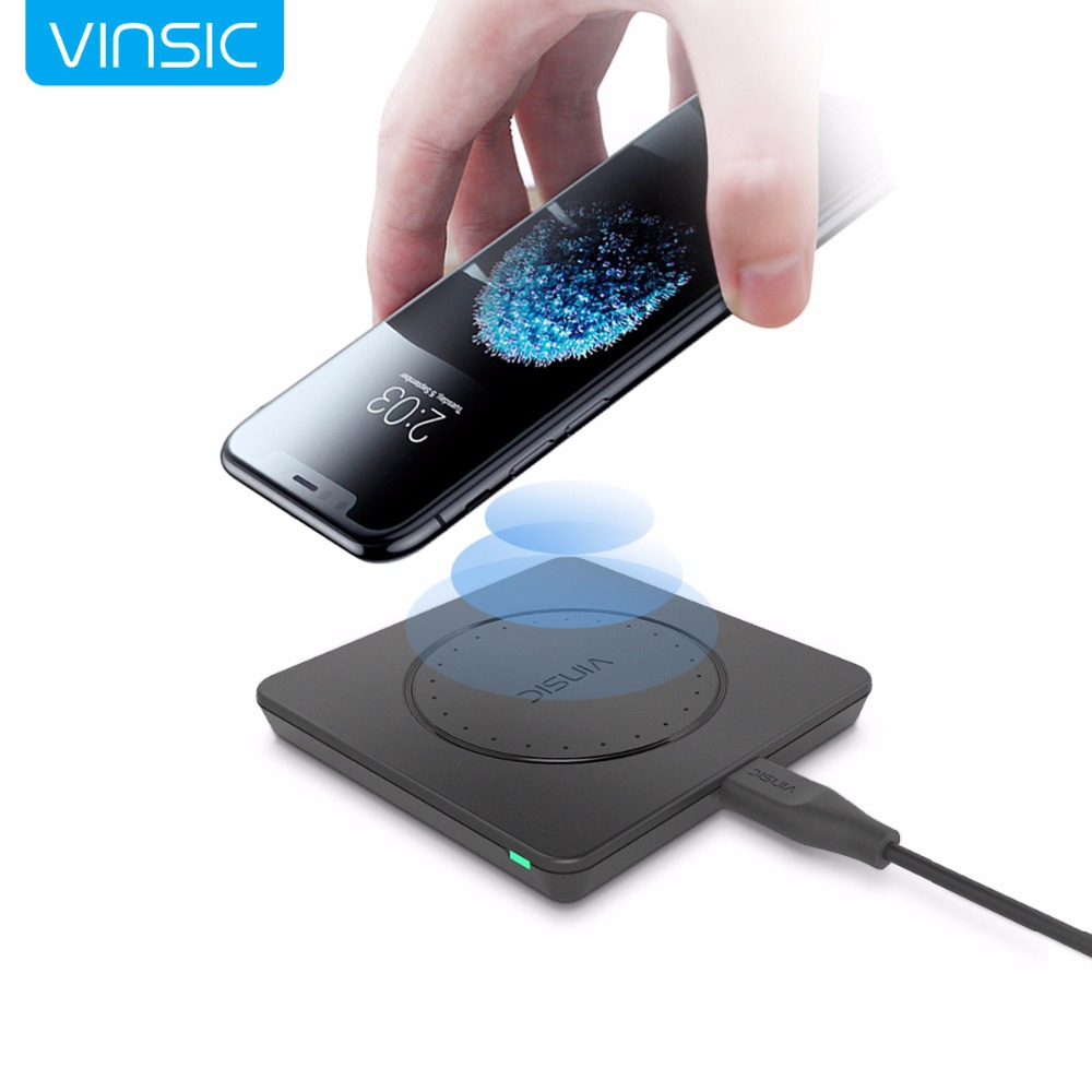 vinsic dapper w9 qi wireless charger for smartphone black. Black Bedroom Furniture Sets. Home Design Ideas