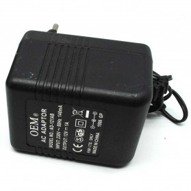 Power Adapter 12V 1A EU Plug - AD-121AB (14 DAYS) - Black