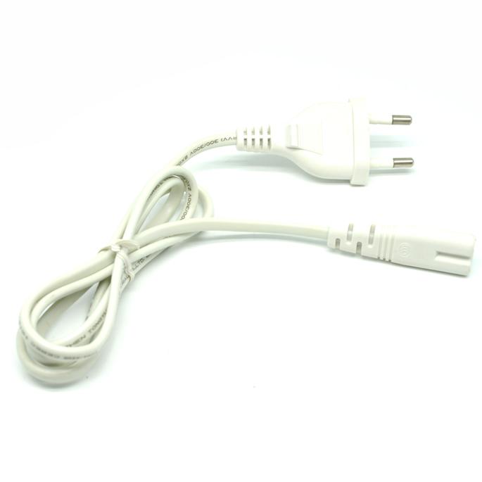 Kabel Listrik Lubang Dua EU Plug 100 CM - White