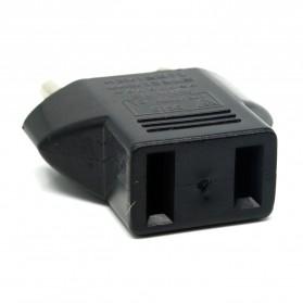 Plug Adapter EU ke US - Black - 3