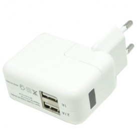 FIVI USB Charger 2 Port dengan Display LED - SP004B-EU - White
