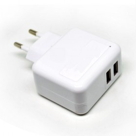Dual USB Mini Travel Charger - SP004-2B - White - 3