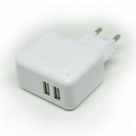 Dual USB Mini Travel Charger - SP004-2B - White - 4