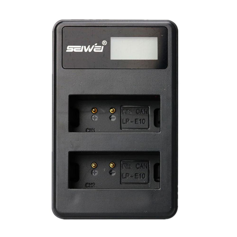 SEIWEI Charger Baterai Travel Canon EOS Rebel T3 T5 T6 - LP-E10 - Black ...