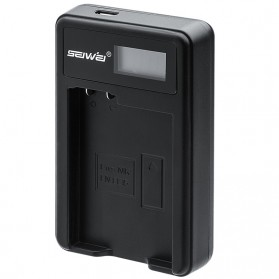 SEIWEI Charger Baterai Travel Nikon D3100 D3200 D3300 D5100 - EN-EL14 - Black - 2