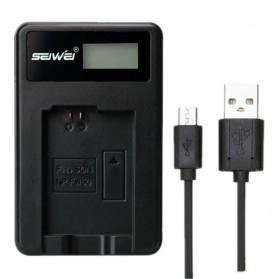 SEIWEI Charger Baterai Travel Sony NEX-5 NEX-7 SLT-A55 A33 - NP-FW50 - Black