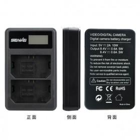 SEIWEI Charger Baterai Travel Sony A9 A7R III A7 III - NP-FZ100 - Black - 2