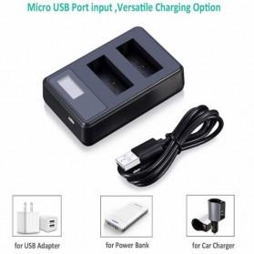 SEIVI Charger Baterai Travel + 2 x Baterai 1180mAh for Sony - NP-FW50 - Black - 5