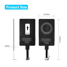 CHOETECH Qi Wireless Charging Receiver USB Type C - WP-TYPEC-301 - Black - 6