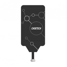 CHOETECH Qi Wireless Charging Receiver Micro USB Narrow Side-Up - WP-MICRO-101 - Black - 2