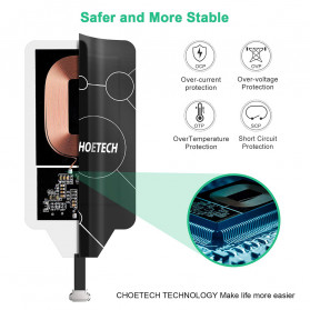 CHOETECH Qi Wireless Charging Receiver Micro USB Narrow Side-Up - WP-MICRO-101 - Black - 5