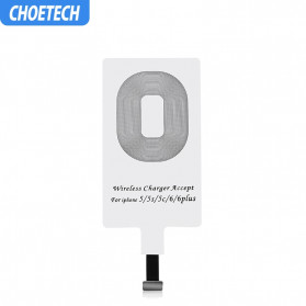 CHOETECH Qi Wireless Charging Receiver Lightning - WP-IP-301 - White