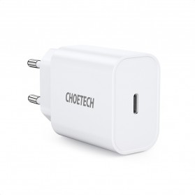 CHOETECH Travel Charger USB Type C PD Charging 20W - PD5005 - White