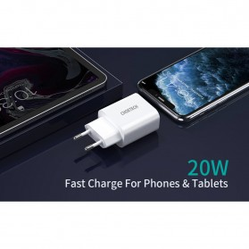 CHOETECH Travel Charger USB Type C PD Charging 20W - PD5005 - White - 3