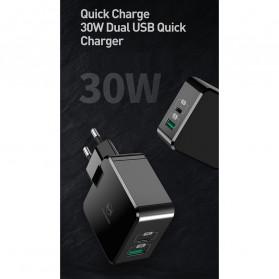 MCDODO Charger USB 2 Port Qualcomm QC3.0 + PD 30W - TC-035 - Black - 7